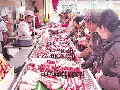 惠民肉菜上市第一天 做馅的五花肉卖得最好